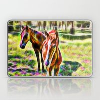 Horses In A Field Laptop & iPad Skin