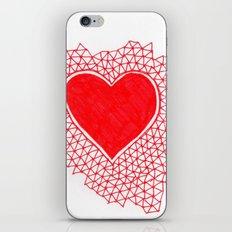 red geometric heart iPhone & iPod Skin