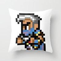 Final Fantasy II - Edge Throw Pillow