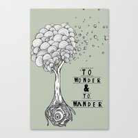 To Wonder And To Wander Canvas Print