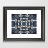 Grungy Building Framed Art Print