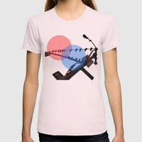 Dimensions Womens Fitted Tee Light Pink SMALL