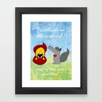 Little Red Riding Hood & Lovely Wolf ♥ Framed Art Print