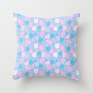 Pina Colada Pastel Throw Pillow