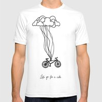 Let's go for a ride Mens Fitted Tee White SMALL