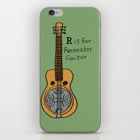 R Is For Resonator Guita… iPhone & iPod Skin