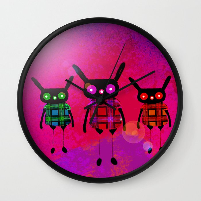 creatures without names wall clock by ganech joe society6