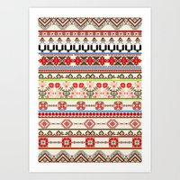 Traditional pattern Art Print