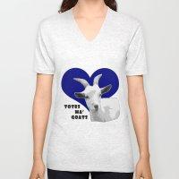 Totes Ma Goats - Blue Unisex V-Neck