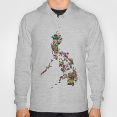 7,107 Islands   A Map of the Philippines Hoody