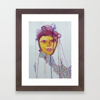 Magenta with Bubbles Framed Art Print