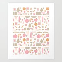 Food Pattern Art Print