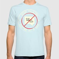 STOP TALKING AT GIGS!! Mens Fitted Tee Light Blue SMALL