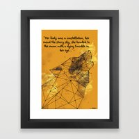 Constellation Wolf Framed Art Print