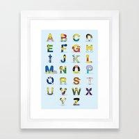 Simphabet Framed Art Print