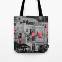 red sheets Tote Bag