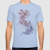 Flight Of Bats Mens Fitted Tee Athletic Blue SMALL