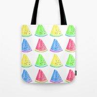 Watermelon Color Mix Tote Bag