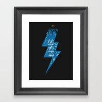 Thunder City Framed Art Print