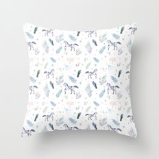 Fall Horses Throw Pillow