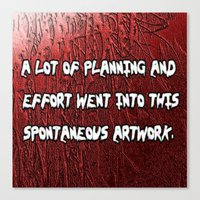 spontaneous Canvas Print