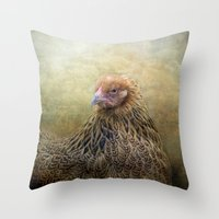 In a Fowl mood... Throw Pillow