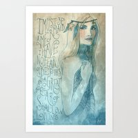 I must be a mermaid Art Print