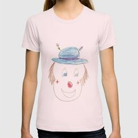 Childhood Drawings (clow… Womens Fitted Tee Light Pink SMALL