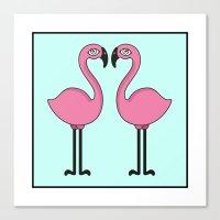 Flamingo's love Canvas Print