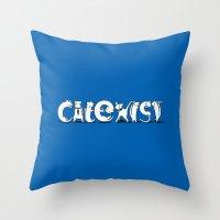 Cat Exist | Coexist Parody Typography Throw Pillow