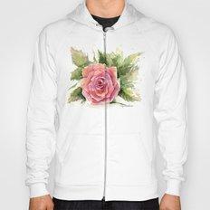 Watercolor Rose Hoody