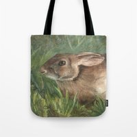 Shy Rabbit Tote Bag