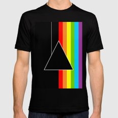 Tribute Pink Floyd   Dark Side Of The Moon Mens Fitted Tee SMALL Black