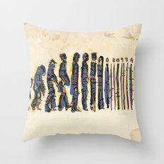 Barcode Evolution Throw Pillow