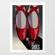 The Red Shoes Art Print