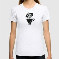 Black Tea Womens Fitted Tee Ash Grey SMALL