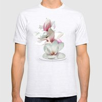 Magnolienblüten Mens Fitted Tee Ash Grey SMALL
