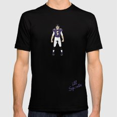 NeverMore - Joe Flacco Mens Fitted Tee SMALL Black