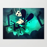 Canvas Print featuring Falling In Human With You by Doc Diventia