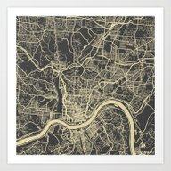 Cincinnati Map Art Print