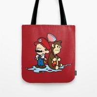 Mario And Kong Tote Bag
