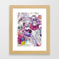 Line Flower Framed Art Print