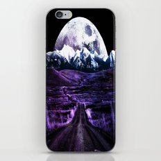 Highway to Eternity (moon mountain) violet iPhone & iPod Skin