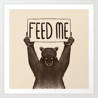 Feed Me Bear Art Print