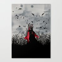 Red Vs The Wolf Canvas Print