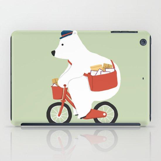 Polar bear postal express  iPad Case