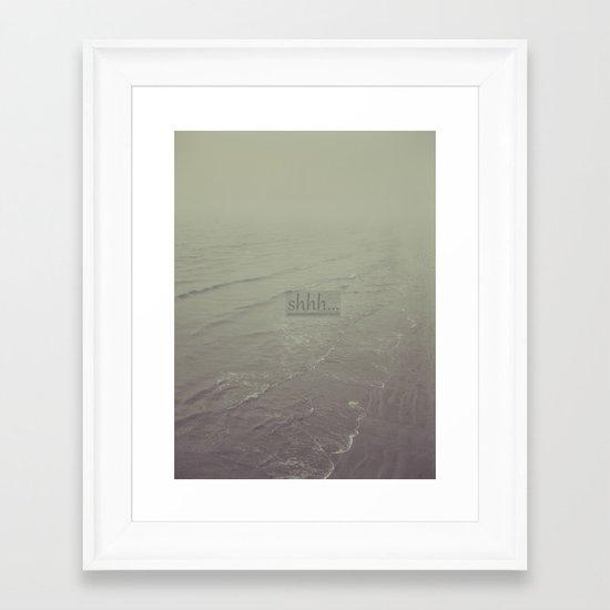 shhh Framed Art Print