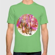 Crazy Zebra II Mens Fitted Tee Grass SMALL