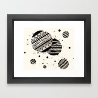 Pattern Doodle One Framed Art Print