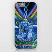 iPhone & iPod Case featuring Rainbow Ganesh by Lee Libro